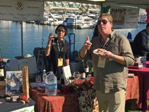 Son Travis and his girlfriend Susan pouring for Woof'n Rose Winery at the San Diego Bay Wine and Food Festival's Grand Tasting.