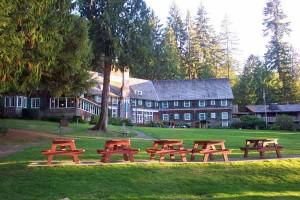 The historic Lake Quinault Lodge on Washington's Olympic Penninsula.