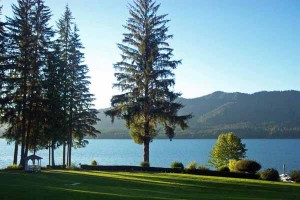 Lake Quinault as seen from the Lodge on the Olympic Peninsula.
